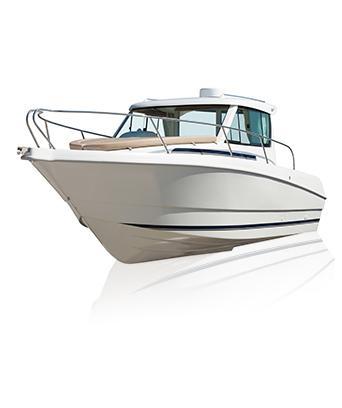Biała łódź